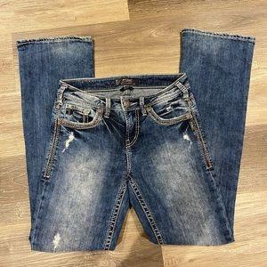 Silver Suki acid wash distressed jeans size 27